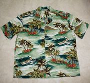 126 Hawaiian shirt Green Island 3XL