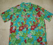 146 Hawaii shirt Colorful Red Flower, M-2XL