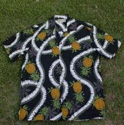 161 Hawaiian shirt Pineapple Black, M - 2XL