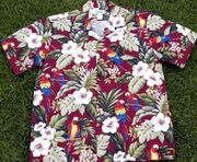 178 Hawaii shirt  parrots, 3XL