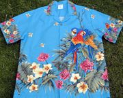 183 Hawaii shirt, Blue parrot, 3XL