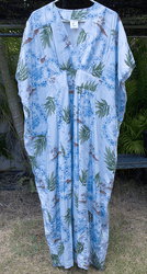 Blue leaf  Hawaii Muumuu