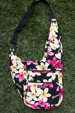 Handy Bag - Black flower