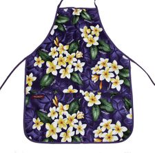 Hawaii Apron- Purple flower