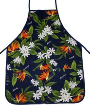 Hawaii Apron - Blue Flower