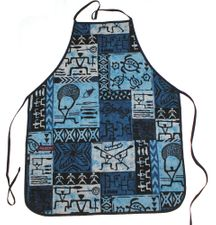 Hawaii Apron- Blue tapa