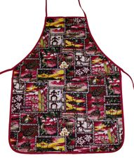 Hawaii Apron- Red Tapa Turtle