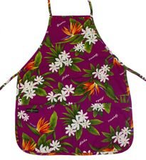 Hawaii Aprons Magenta Flower
