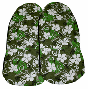 Hawaii car seat cover<br>#27 Green Flower<br>(quilted)