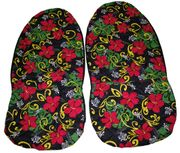 Hawaii car seat cover<br>#5 Rasta Color Flower<br>(quilted)