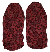 Hawaii Seat Cover <br>130 Red and Black Flower<br>(Non-quilted)