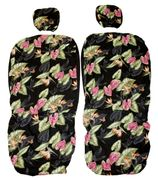 Hawaii Seat Cover<br>Separated Headrest<br>Bird of Paradise Flower