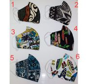 Hawaiian Print Fabric Three Layer<br>Face Mask Cover