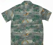 Hawaiian Shirt 100% polyester<br>#19 Gray ranibow