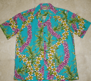 Hawaiian Shirt <br>#12 Blue leis