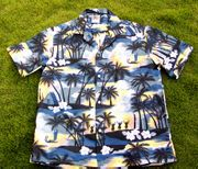 Hawaiian Shirt  <br>#26 Gray plam tree
