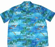 Hawaiian Shirt 100% polyester<br>#16 Blue Rainbow