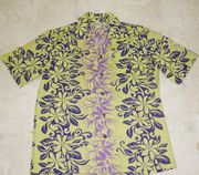 Hawaiian Shirt <br> Purple flower