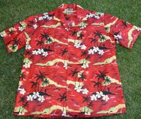 Lady's blouse<br> #10 Red Sunset S to XL