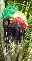 Large Warrior Helmets - Rasta