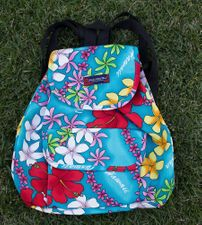 Medium backpack <br>Colorful blue flower
