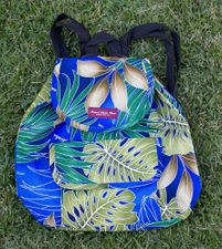 Medium backpack <br>blue  plumeria