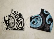 Set of 2 Hawaii Fabric Three Layer Face Mask Cover