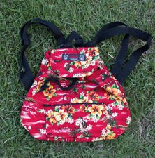 Small Backpack<br>Red plumeria