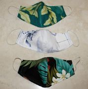 Set of 3 Hawaii Frible Double layer Face Mask Cover