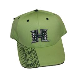 UH Warriors hats<br>lime green