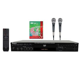 Acesonic DGX-220 HDMI Multi-Format Karaoke Player Bundle W 2 PX-88 PerformMax Vocal Microphone & 6 CDG Christmas Pack