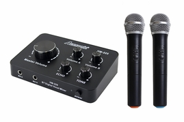 Acesonic HM-225 HDMI Karaoke Mixer With Dual UHF Wireless Microphones & Bluetooth Input