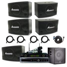 Acesonic KC5200 1400 Watts 5.1 Channels Karaoke & Cinema Complete System Package