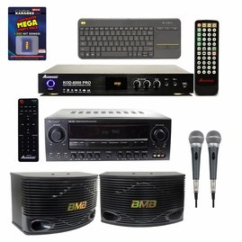 "Acesonic KOD-6000 Pro Dual Hard Drive Karaoke Player w/ AM-200 960W Bluetooth Amp & PX-88 PerformMax Vocal Mic,  BMB CSN-500 10"" Speaker  w/ Chartbuster Karaoke  Party Pack"