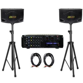 "API A-801 600W Karaoke AV Mixing Amplifier & BMB CSN-300 8"" Speaker Package"