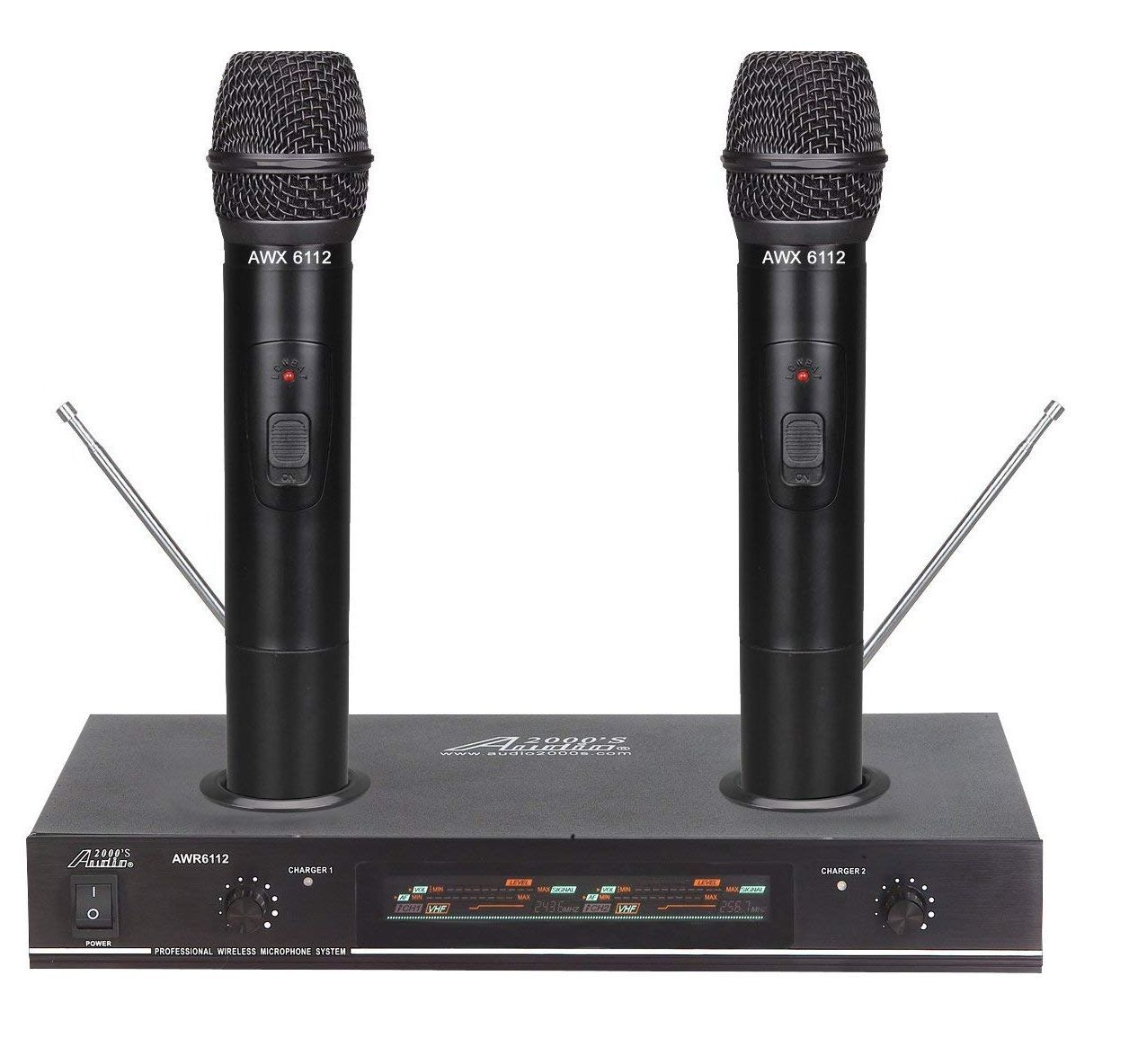 audio 2000 awm6112 rechargeable vhf wireless microphone system. Black Bedroom Furniture Sets. Home Design Ideas