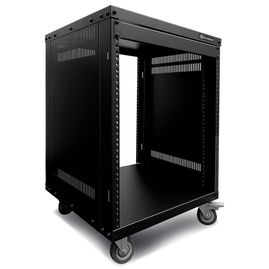 AxcessAbles RK12U Universal Equipment Rolling Cabinet Rack