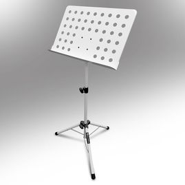 AxcessAbles SM-501W Orchestra Conductor Sheet Stand Height & Angle Adjustable (White)