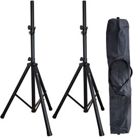 AxcessAbles SSB-101 Universal Tripod Speaker Stands with Carrying Bag (Pair)