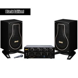 BMB Basic Package 200W Bluetooth Amplifier & 3-Way Vocal Speakers (Black Edition)