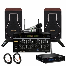 Vietnamese Basic Package 200W BMB Bluetooth Amplifier & 3-Way Vocal Speakers