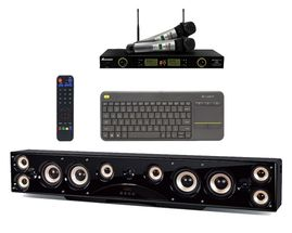 ZEUS 1000-Watts 4K Android Home Theater Karaoke All-In-One Sound System Package with UHF-5200Pro and Keyboard