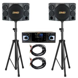 BMB DAS-400 with CSE-312 800W  Speaker, Amplifier, Speaker Cable & Speaker Stand Package