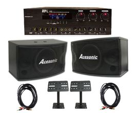 API A502 Amplifier with Acesonic SP-450 300W Speaker, Speaker Cable & Mounting Bracket Package