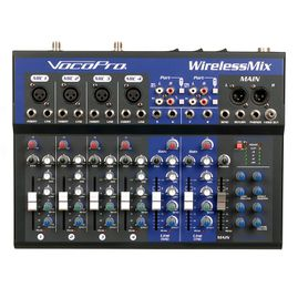 VocoPro WirelessMix-2 All-In-One Live Sound / Karaoke Mixer with 2 UHF Wireless Mics and SD Audio Recorder