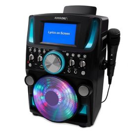 iKaraoke KS599-BT Bluetooth CD+G Disco Party Machine with Light Effects & 5 inch Color TFT