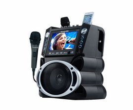 "Karaoke USA GF846 DVD/CDG/MP3G Karaoke System with 7"" TFT Color Screen, Record, Bluetooth and LED Sync Lights"