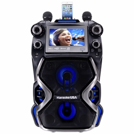 "Karaoke USA GF920 Portable Professional CDG/MP3G Karaoke Player, 7"" Color TFT Display, Record Function, Rechargeable Lithium Battery and PA System"