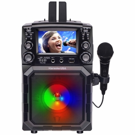 "Karaoke USA GQ450 Portable CDG/MP3G Karaoke Player with 4.3"" Color TFT Screen, Bluetooth, Recording Function, PA and Built-In Battery"