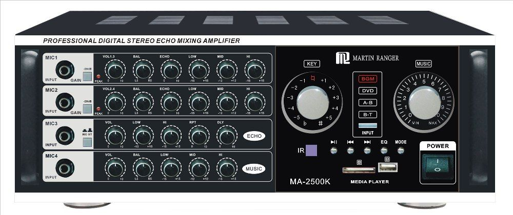 martin ranger ma 2500k 1000w professional digital stereo echo mixing amplifier with built in. Black Bedroom Furniture Sets. Home Design Ideas